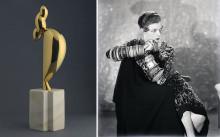 La Jeune Fille Sophistiquée par Brancusi  et Portrait de Nancy Cunard par Man Ray